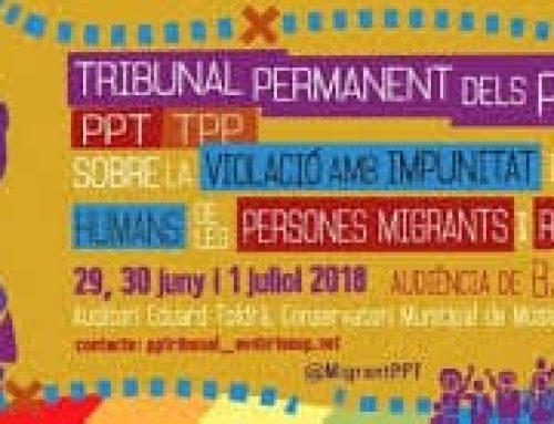 «A les fronteres europees s'estan cometent crims contra la humanitat»,  principal conclusió de l'Audiència de Barcelona del TPP