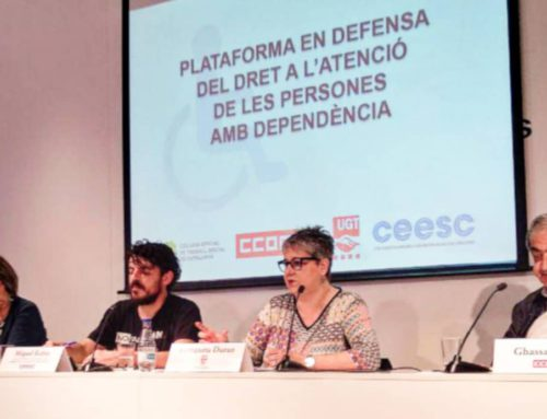 La CONFAVC se suma a la Plataforma en Defensa del Dret a l'Atenció de les Persones amb Dependència