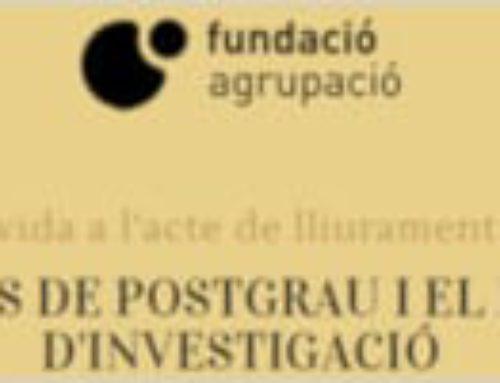 Acte lliurament de Premis i Beques de la Fundació Agrupació
